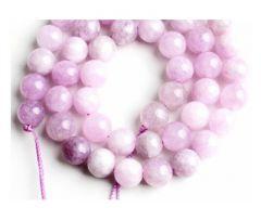 Snoer Jade roze/lila vintage 6mm