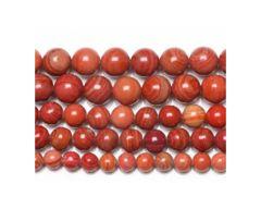 Snoer Jaspis 8mm gestreepte rood-bruine kralen