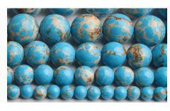 Snoer Jaspis zee sediment zacht blauw 6mm