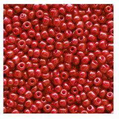 Rocailles karmozijn rood 12/0. Per 10 gram.