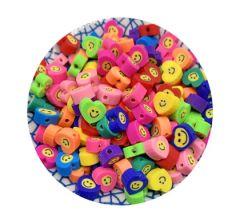 Zakje Katsuki hartjes multicolor, 10mm, per 10 stuks.