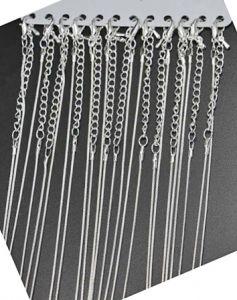 Ketting licht zilverkleurig, 40cm plus verlengketting