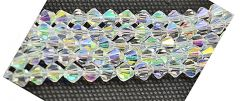 Half snoer bicone kristal kralen 4x4mm AA kwaliteit
