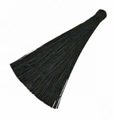 Kwastje of tassel zwart, 7cm. Per stuk.