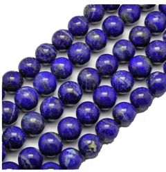 Klein snoer Lapis Lazuli kralen 6mm. 30 kralen.