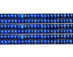 Kraal Lapis Lazui rondel 8x5mm, per 10 stuks.