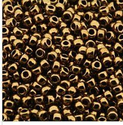 Rocailles 11/0 Miyuki Metallic light bronze. Per 10 gram.