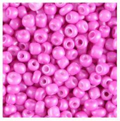 Rocailles diep roze metallic 6/0. Per 10 gram.
