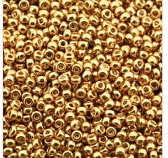 Rocailles 8/0 Miyuki galvanized gold  per 10 gram