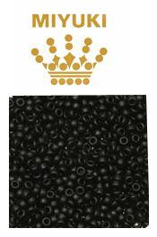 Rocailles 8/0 Miyuki opaque zwart.  Per 10 gram.