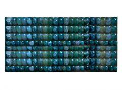 Kraal rondel Mos Agaat 8x5mm. Per 10 stuks.