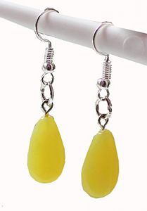 Oorbellen Jade geel