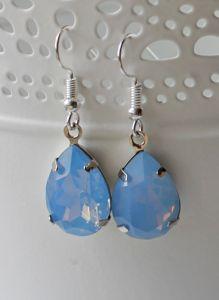 Oorbellen zacht blauwe hanger