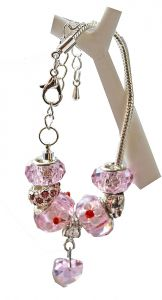 Kinderarmband Pandora style, roze