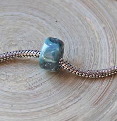 Groot gat style keramieke ring smal turkoois groen