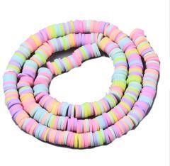 Snoer Katsuki of polymeer klei kralen mix pastel kleuren 6mm