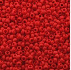 Rocailles 11/0 Miyuki Red opaque, 10 gram.