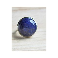 Ring met Lapis Lazuli 16mm steen, mt 17