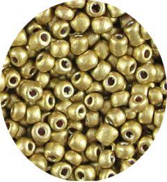 Rocailles licht metallic goud 6/0. Per 10 gram.