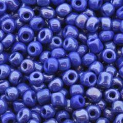 Rocailles saffier blauw 6/0, 10 gram