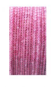 Snoer Rozekwarts kralen 4mm, licht opaque