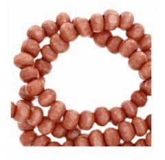Houten kralen Rosewood rood-bruin 6mm. Per 100 stuks.