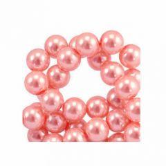 Glasparel kralen roze 4mm, per 60 stuks.