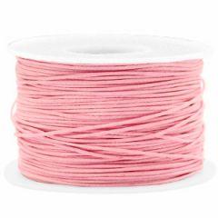 Waxkoord roze 1mm, per 5 meter.
