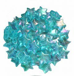 Acryl sterretje azuurblauw met AB coating 11x4mm. Per 20 stuks.