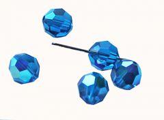 Swarovski kristalkraal Capri Blauw 6mm. Per stuk.