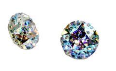 Swarovski punt kristal  Crystal white patina, 8mm ss39