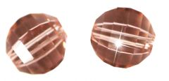 Glaskraal facetgeslepen AAA kwaliteit roze rosaline 8mm. Per stuk.