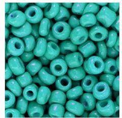 Rocailles turkoois blauw/groen 6/0. Per 10 gram.