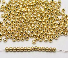 Acrylkralen goudkleurig 4mm. Per 50 stuks.