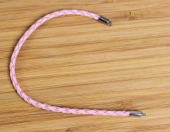 Armband imitatie veter roze