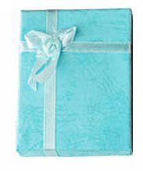 Cadeau doosje zacht turkoois groen 9x7x3xmm. Voor ketting of armband. Per stuk.