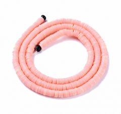 Snoer Katsuki of polymeer klei kraaltjes 4x1-1.mm zalm roze