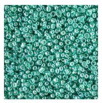 Rocailles Lark groen 12/0. Per 10 gram.
