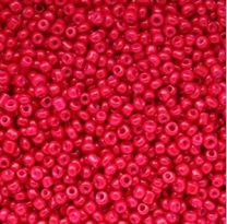 Rocailles rood opaque 8/0. Per 10 gram.