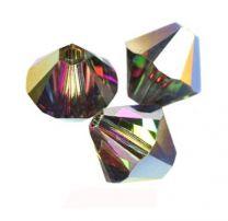 Swarovski bicone 6mm crystal vitrail medium. Per stuk