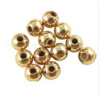 Acryl kralen licht goudkleurig 6mm. Per 50 stuks.