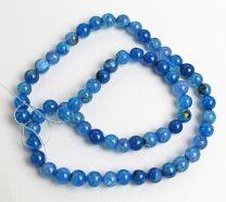 Kraal Agaat blauw, 6mm. Per kraal.