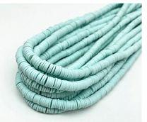 Snoer Katsuki of polymeer klei kralen lichte aquamarijn kleur 4mm