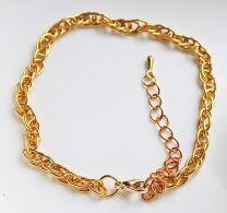 Armband goudkleurige schakels18-24cm
