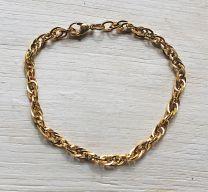 Armband goudkleurige schakels 20cm