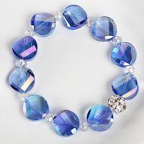 Armband helder blauwe kristal kralen