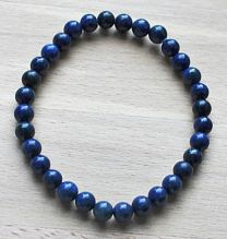 Armband Lapis Lazuli 6mm kralen, 20cm