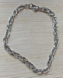 Armband zilverkleurige schakels 20cm