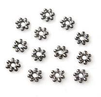 Metalen rondel black nikkel 4mm. Per 30 stuks.