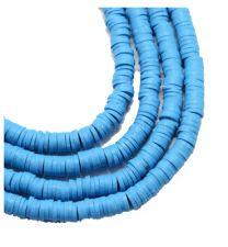 Snoer Katsuki of polymeer klei kralen helder blauw 4x1mm